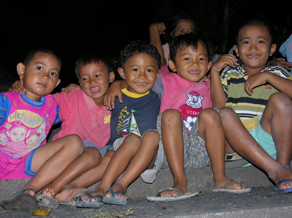 Indonesian children smile